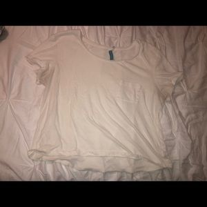 White tee with pocket
